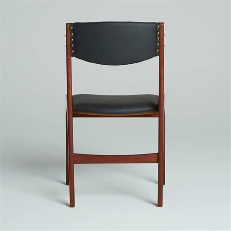 set of four modern dining chairs by illums bolighus