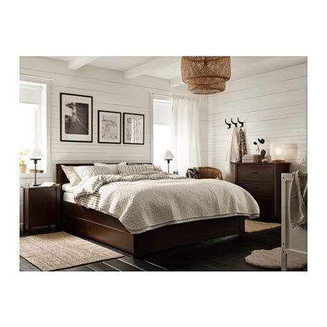 brusali bedroom brusali bed frame with 4 storage boxes brown lur 246 y