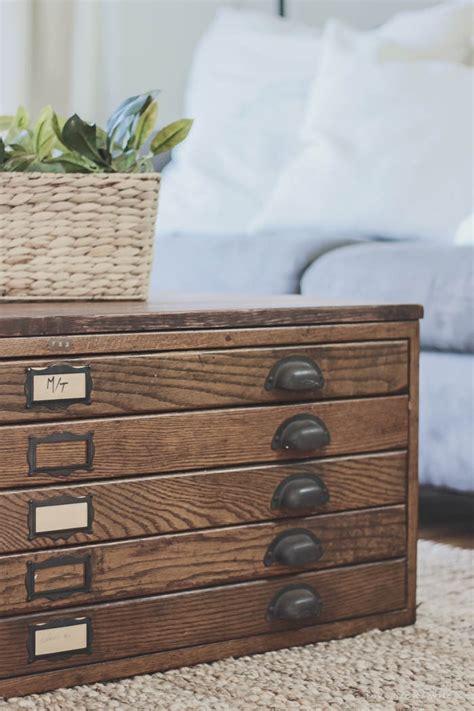 blueprint cabinet coffee table repurposed blueprint cabinet coffee table love grows wild