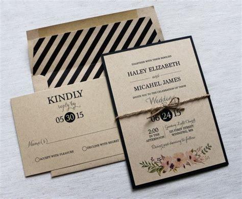 Wedding Invita by Modern Wedding Invitation Rustic Wedding Invitation