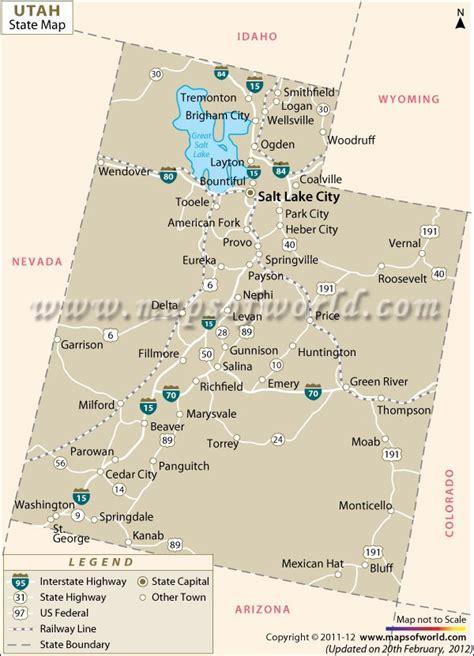map of utah cities map of utah favorite places