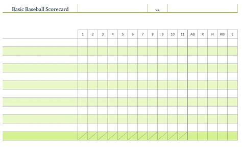 baseball box score template baseball score sheet excel images