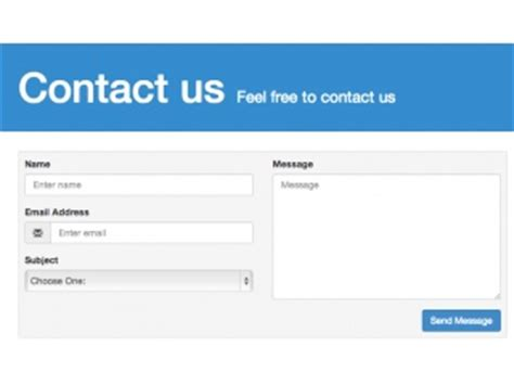 Bootstrap Layouts Exles Contact Us Page Template Html