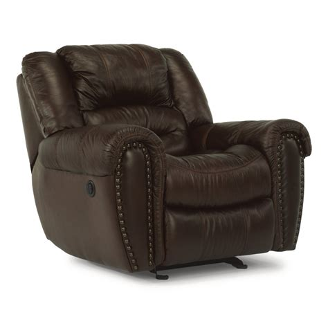 discount recliner flexsteel 1210 50p crosstown leather power recliner