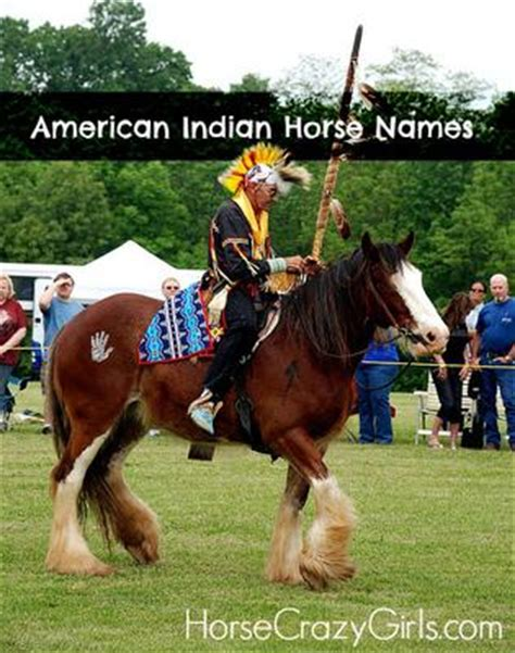 themes for names of horses american indian horse names