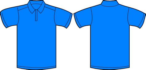 Polo Shirt Template Front And Back polo shirt front and back clip at clker vector