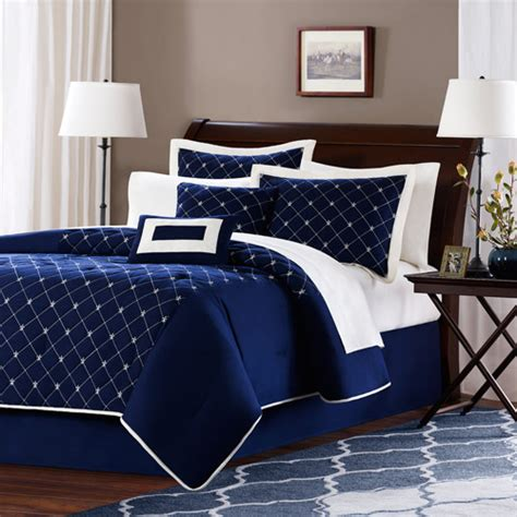 navy blue bed sets lillie microfiber comforter set walmart