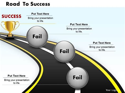 best photos of road to success powerpoint template free