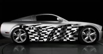 Customized Gift Wrap - full color car vinyl graphic checkered flag wrap 032 1 stickalz