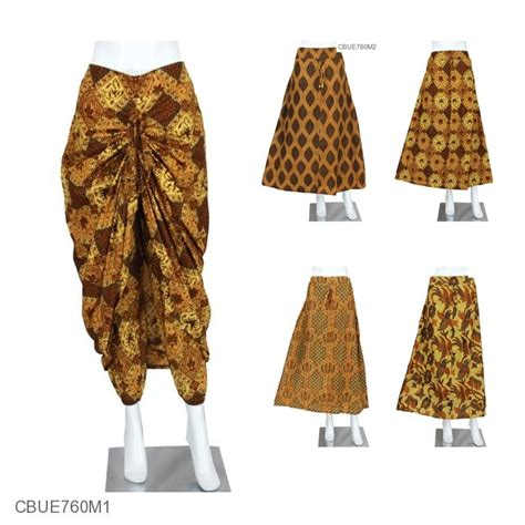 Celana Batik Rok Batik Kekinian Batik Warna Biru rok celana motif klasik bawahan rok murah batikunik