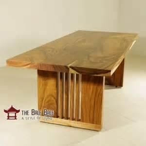 Meja Makan Kayu Utuh meja makan minimalis kayu utuh mmj001 mebel jati