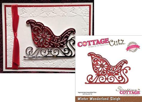 Cottage Cutz Dies Hat Box winter sleigh by cottage cutz elites inspiration station scrapbook store retreat