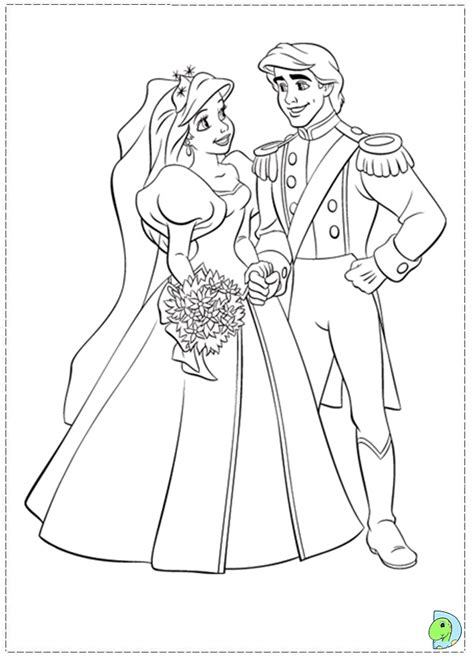 little mermaid wedding coloring pages ariel wedding coloring pages
