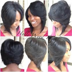 layered bob sew in hairstyles for black for sew in bob w invisible part cute my style i hair weaves wigs lacefronts etc