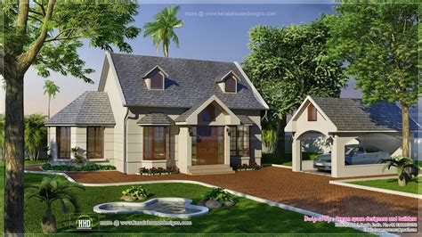 vacation garden home design in 1200 sq kerala home