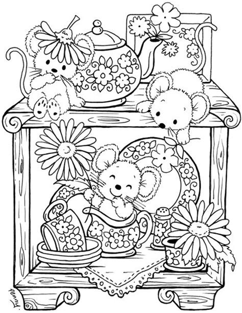 creative tea time coloring book coloring books sts downloads and sketches
