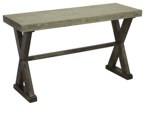 Concrete Console Table Console Table With Concrete Top And Pine Wood Base Industrial Console Tables By Artefac