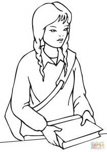 pictures girl coloring schoolgirl school girl coloring page free printable coloring pages