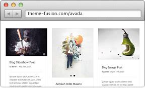 avada theme blog categories home 파라야