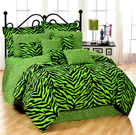 green comforters sets lime green zebra print comforter and bedding