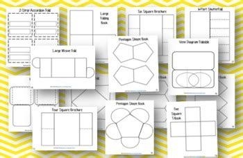 lapbook templates you can type on 36 editable lapbook and fold it templates by polk tpt