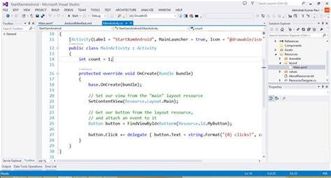 xamarin android project properties stackoverflowxchanger hello world in xamarin