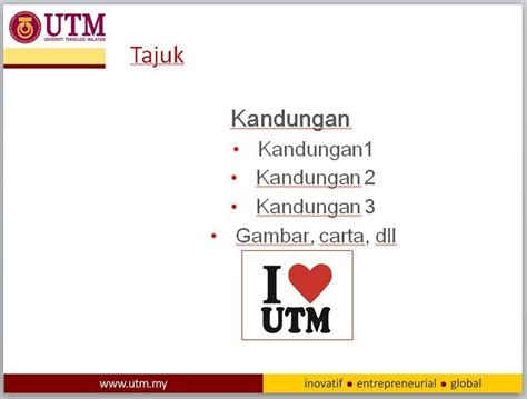 utm powerpoint slide template utm slide template quarterly