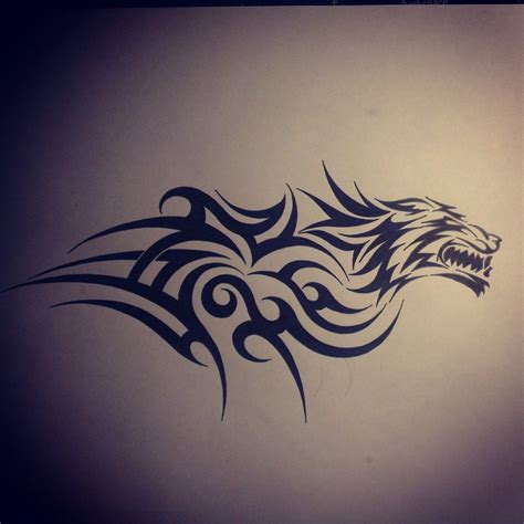 tribal wolf tattoo designs wolf tribal on shoulder