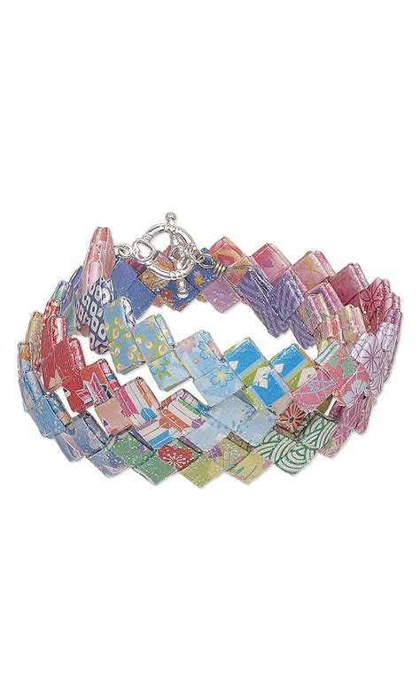 Origami Bracelet - jewelry design bracelet with origami paper and mod podge