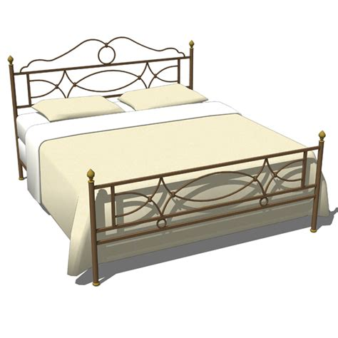 Iron Bed Sets Wrought Iron Bedroom Set 02 3d Model Formfonts 3d Models