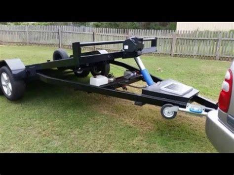 tilt boat trailer designs tilt trailer 12 volt over hydraulic car carrier quot home made