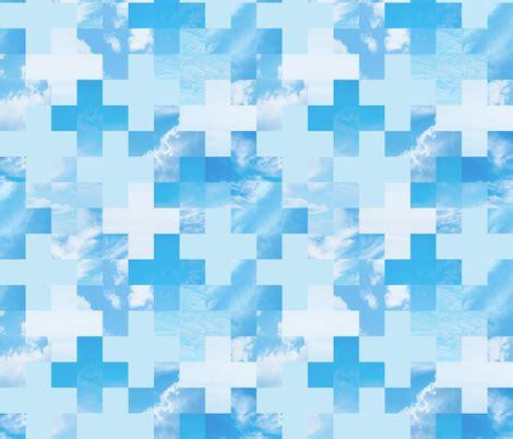 grid pattern in sky sky grid sky blue fabric linkolisa spoonflower