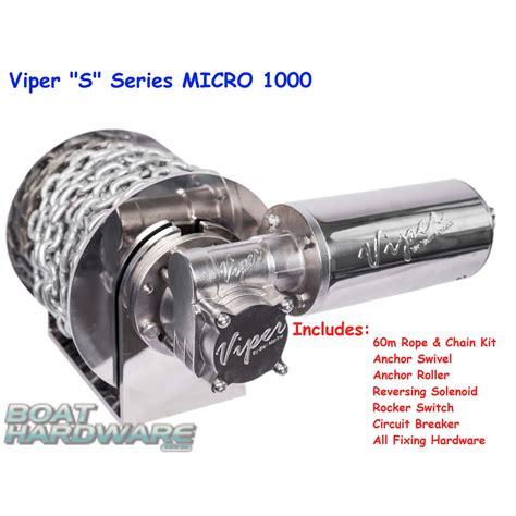 viper boat anchor winch viper micro 1000 electric anchor winch s series