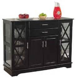 Dining Storage Cabinets Buffet Dining Room Storage Kitchen Furniture Hutch Sideboard Cabinet Black Wood What S It Worth