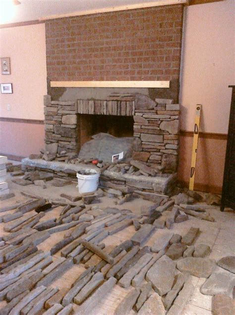 Hometalk   Manufactured Stone Veneer that I installed in
