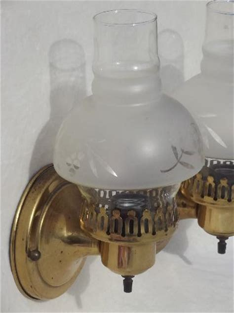 vintage solid brass wall sconces pair  parlor lamps