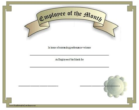 Employee Of The Month Certificate Template With Picture by 10 Best Clip Images On