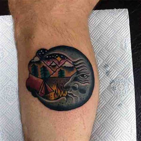 small half moon tattoo 90 moon tattoos for ship of light on the sea of