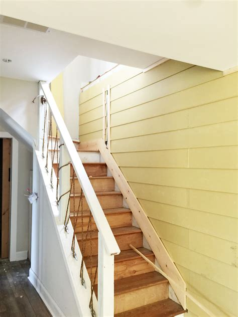 Shiplap Wall Hanging How To Shiplap Wall And Open Pipe Shelves 23 S