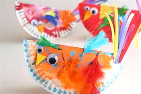 Bird Paper Plate Craft - paper plate craft rocking birdies play cbc parents