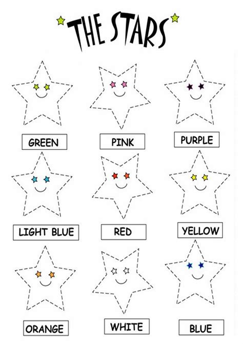 Kids Page Color The Stars Worksheets Printable Coloring Worksheets Colors Printable Worksheets