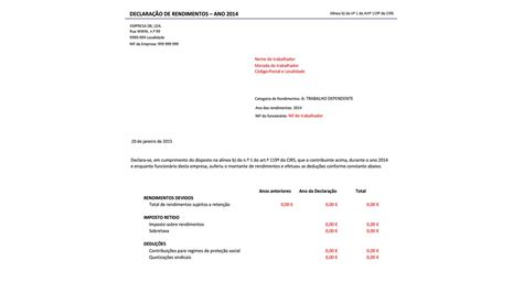 modelo informe rendimentos em word modelo de informe de rendimentos 2015 em word modelo de