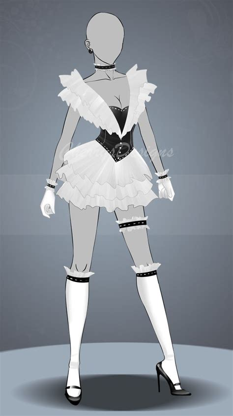 magical girl ish fashion design drawings anime dress