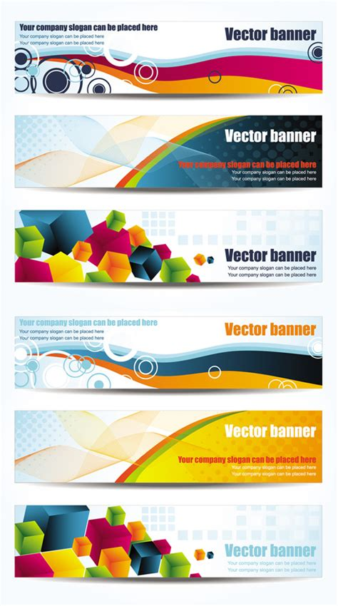 layout banner vector free dynamic fashion banner design vector graphics free download