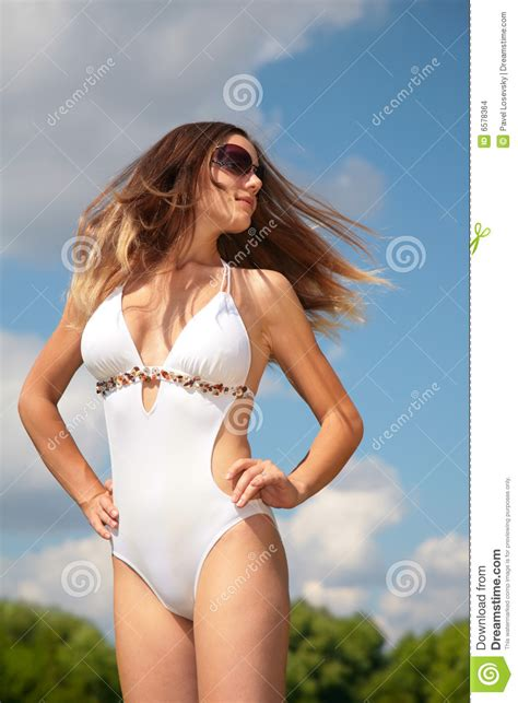 bathing suit hair pics girl in bathing suit with flying hair stock images image