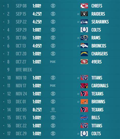 jacksonville jaguars scedule nfl tv schedule 2013 14