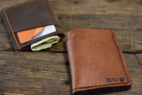 Handmade Mens Gifts - personalized wallet mens leather wallet handmade slim