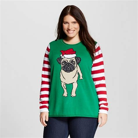 womens pug sweater s plus size sweater pug san target