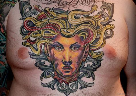 medusa head tattoo 70 brilliant chest tattoos