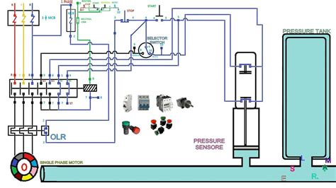 three phase contactor wiring diagram circuit diagram maker